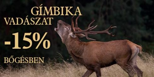 Kedvezményes gímbika vadászat bőgésben