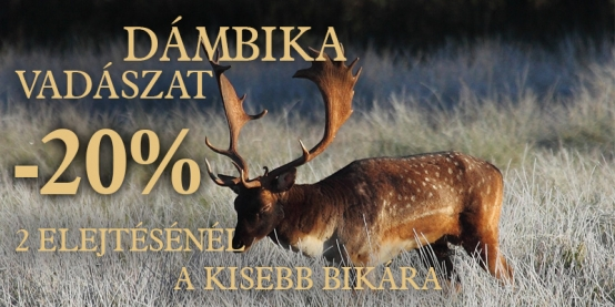 20% kedvezmény dámbika vadászatra