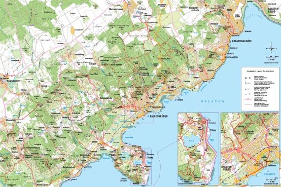 Balatonfüred és környéke turista térkép